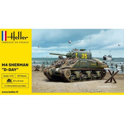 """CARRO DE COMBATE M-4 SHERMAN """"DIA D"""" -Escala 1/72- Heller 79892"""