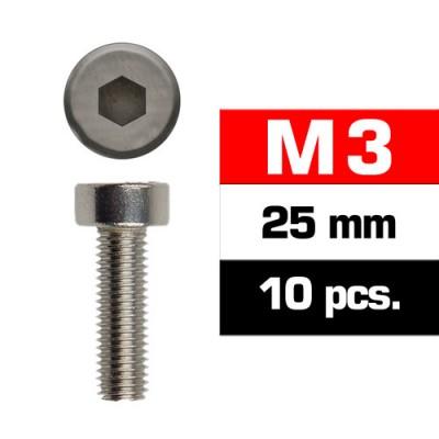 TORNILLO CABEZA CILINDRICA (M3x25 mm) 10 unidades - Ultimate Racing 163325