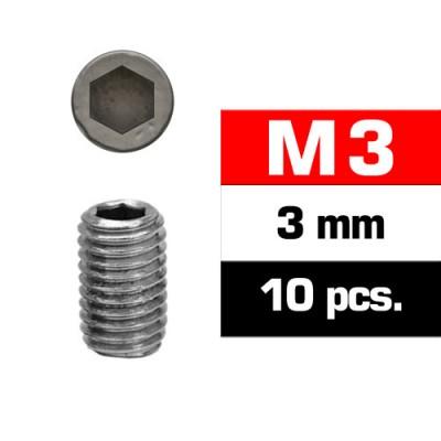 ESPARRAGOS PARA PRISIONEROS (M3x3 mm) 10 unidades - Ultimate Racing 164303