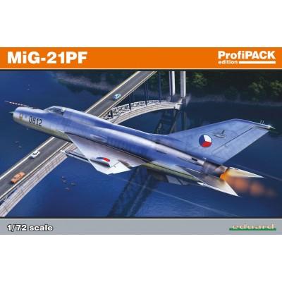MIKOYAN GUREVICH MIG-21 PF FISHBED - Escala 1/72- Eduard 70143