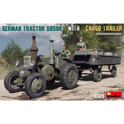 TRACTOR LANZ D8506 & TRAILER -Escala 1/35- Mini Art Model 35317