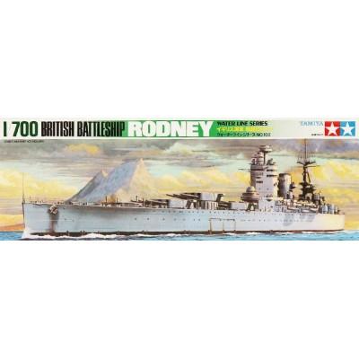 ACORAZADO H.M.S. RODNEY -Escala 1/700- Tamiya 77502