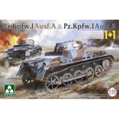 CARRO DE COMBATE Sd.Kfz. 101 PANZER I Ausf. A + Ausf. B -Escala 1/35- Takom 2145