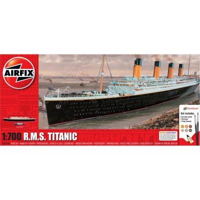 TRANSATLANTICO R.M.S. TITANIC (Pegamento & pinturas) -Escala 1700- Airfix A50164A