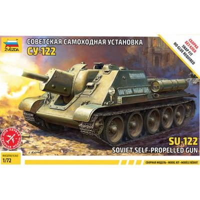 CAÑON AUTOPROPULSADO SU-122 -Escala 1/72- Zvezda 5043