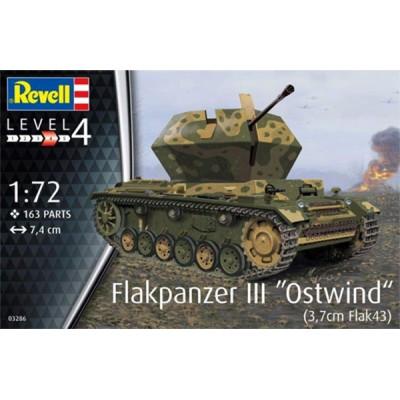 "CARRO DE ANTIAEREO Flakpanzer III ""Ostwind"" -Escala 1/72- Revell 03286"