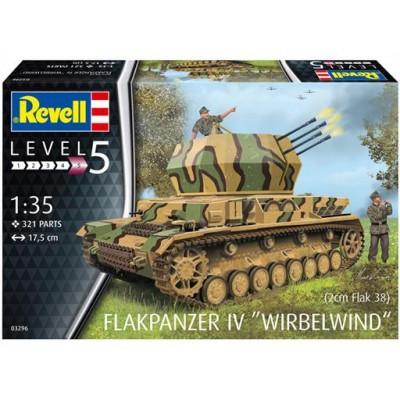 "CARRO ANTIAEREO Sd.Kfz. 161/4 FLAKPANZER IV ""Wirbelwind"" -Escala 1/35- Revell 03296"
