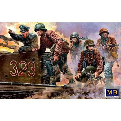 """SOLDADOS ALEMANES 1944 """"Das Maschinengewehr ist dort!"""" -Escala 1/35- Master Box 35218"""