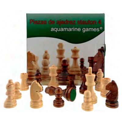 PIEZAS AJEDREZ STAUTON 4 MADERA - Aquamarine games CP029A