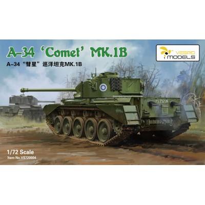CARRO DE COMBATE A-34 COMET MK.1B - ESCALA 1/72 - VESPID MODELS VS720004
