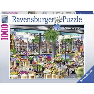 PUZZLE 1000 PZAS AMSTERDAM FLOWER MARKET - RAVENSBURGER 13987