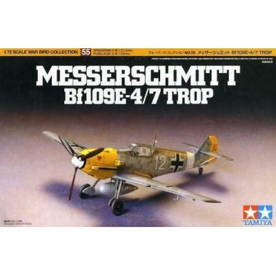 MESSERSCHMITT Bf-109 E-4/7 TROP -Escala 1/72- Tamiya 60755
