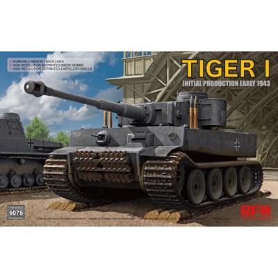 CARRO DE COMBATE Sd.Kfz. 181 TIGER I Initial -Escala 1/35- Rye Field Model RM-5075
