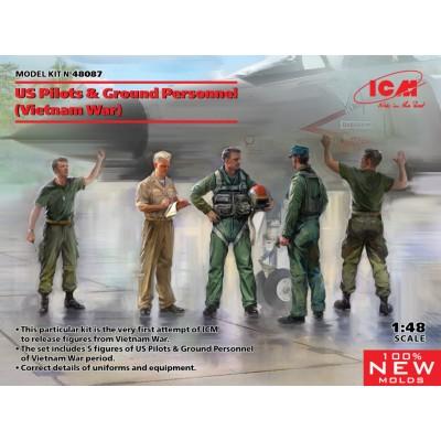 PERSONAL DE TIERRA Y PILOTOS U.S.A.F. VIETNAM -Escala 1/48- ICM 48807