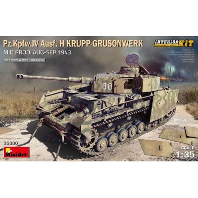 CARRO DE COMBATE Sd.Kfz. 141 Ausf. H Krupp-Grusonwek (Mid. Prodution 1943) & INTERIORES -Escala 1/35- MiniArt 35330