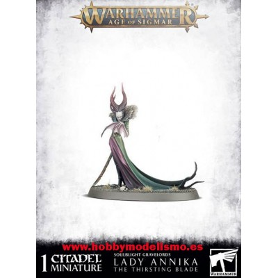 SOULBLIGHT GRAVELORDS - LADY ANNIKA THE THIRSTING BLADE GAMES WORKSHOP 91-51