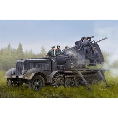 TRANSPORTE Sd.Kfz. 7/2 & FLAK-41 (50 mm) -Escala 1/35- Trumpeter 09513