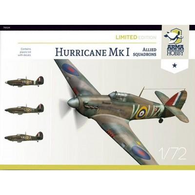 """HAWKER HURRICANE Mk-I """"Escuadrones Aliados"""" -Escala 1/72- Arma Hobby 70024"""