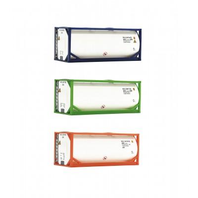 SET CONTENEDORES TANQUES (3 unidades) Epoca VI -Escala h0 - 1/87- Roco 05216