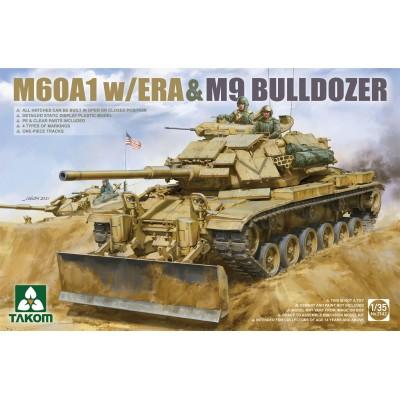 CARRO DE COMBATE M-60 A1 (ERA) & PALA M-9 -Escala 1/35- Takom 2142