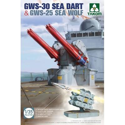 LANZADORES DE MISILES GWS-30 SEA DART & GWS-25 SEA WOLF -Escala 1/35- Takom 2138