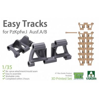 SET ORUGAS PANZER I A /B LATE (3D Print) -Escala 1/35- Takom TR85002