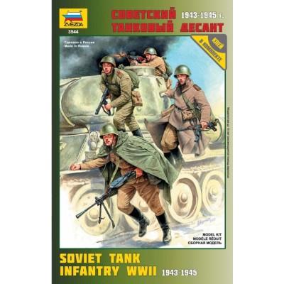INFANTERIA SOVIETICA SOBRE CARRO -Escala 1/35- Zvezda 3544