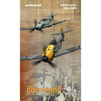 "MESSERSCHMITT BF-109 E ""ADLERANGRIFF"" Limited Edition -Escala 1/72 - Eduard 2136"