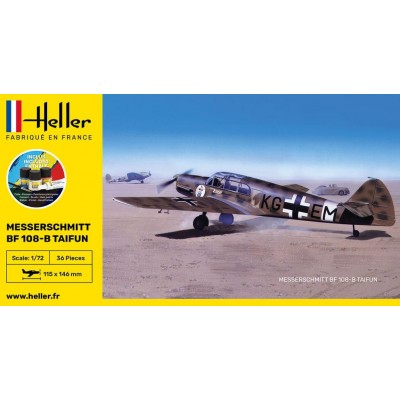 MESSERSCHMITT BF-108 B TAIFUN (Pegamento & pinturas) -Escala 1/72- Heller 56231