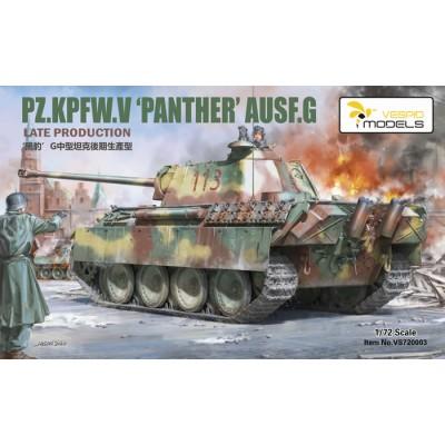 CARRO DE COMBATE Sd.Kfz. 171 Ausf. G Late -Escala 1/72- Vespid Models 720003