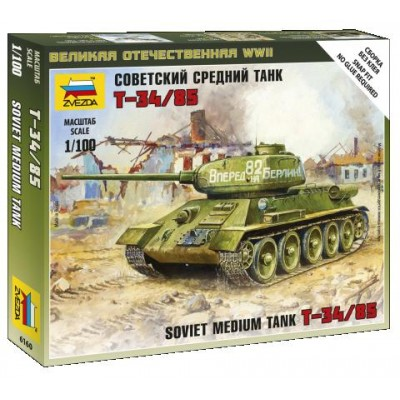 CARRO DE COMBATE T-34/85 -Escala 1/100 - Zvezda 6160