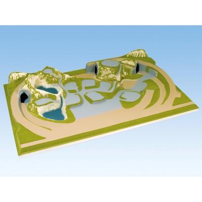 TOPORAMA: SCHÖNMúHLEN (1600 x 1000 x 250 mm) -Escala 1/87 - H0- Noch 81710