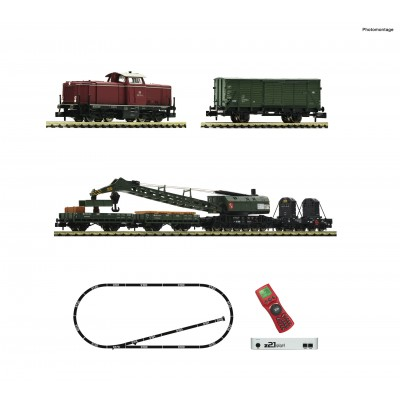 SET DIGITAL Z21 LOCOMOTORA DIESEL Serie 212 Y TREN DE TRABAJO DB, Epoca IV -Escala 1/160 - N- Fleischmann 931899