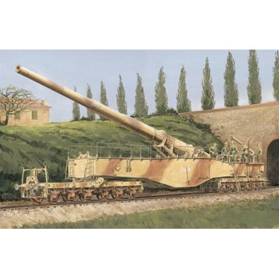 CAÑON SOBRE RAIL K5(E) LEOPOLD (280 mm) -Escala 1/35- Dragon Models 6200