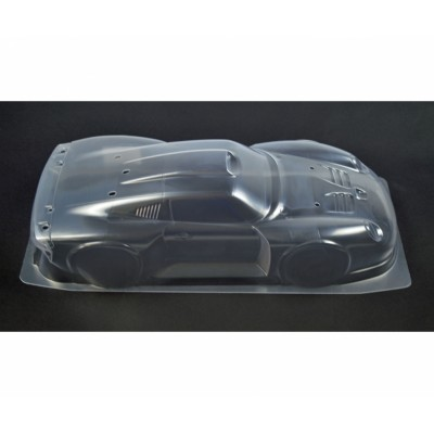 CARROCERIA TRANSPARENTE PORSCHE 911 GT1 STREET 1196 ESCALA 1/10 ( CON PEGATINAS Y ALERON) PARA KIT 47443