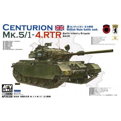 """CARRO DE COMBATE CENTURION Mk. 5 - 5/1 RTR """"Berlin Brigade"""" -Escala 1/35- AFV Club AF35328"""