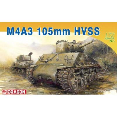 CARRO DE COMBATE M-4 A3 (105 mm) SHERMAN -Escala 1/72- Dragon Models 7313