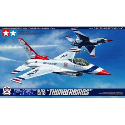 "GENERAL DYNAMICS F-16 C FALCON ""Thunderbirds"" -Escala 1/48- Tamiya 61102"
