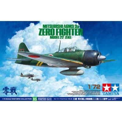 MITSUBISHI A6M3 /3a ZERO -Escala 1/72- Tamiya 60785