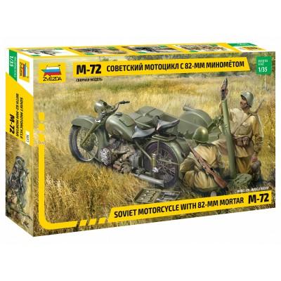 MOTOCICLETA M-72 & MORTERO (82 mm) -Escala 1/35- Zvezda 3651