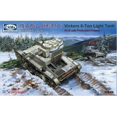 CARRO DE COMBATE VICKERS 6-ton ALT-B Late (Finlandia) -Escala 1/35- Riich Model CV35A009
