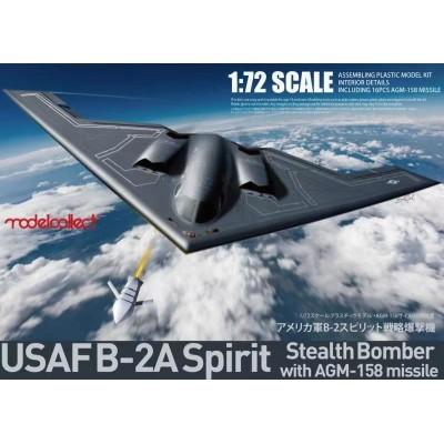 NORTHROP GRUMMAN B-2 A SPIRIT & MISILES AGM-158 -Escala 1/72- Modelcollect UA72214