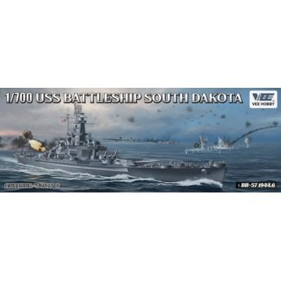 ACORAZADO U.S.S. SOUTH DAKOTA BB-57 (1944) -Escala 1/700- VEE HOBBY 57005