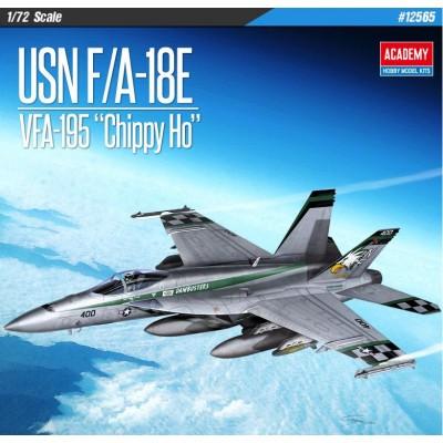 "McDONNELL DOUGLAS F/A-18 E SUPER HORNET ""VFA-195 CHIPPY HO"" -Escala 1/72- Academy 12565"