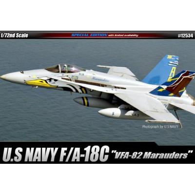 "McDONNELL DOUGLAS F/A-18 C HORNET ""VFA-82 MARAUDER"" -Escala 1/72- Academy 12534"