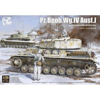 CARRO DE COMBATE SD.KFZ.161 Ausf. J Beob PANZER IV (Mando) -Escala 1/35- Border Model BT-006