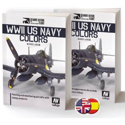 REMOVE BEFORE FLIGHT: WWII US NAVY COLORS (INGLES) -Acrylicos Vallejo 75024