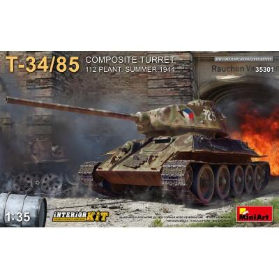 CARRO DE COMBATE T-34/85 Composite Turret (Interiores) -Escala 1/35- MiniArt 35301