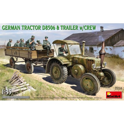 TRACTOR LANZ D8506 & TRAILER (Ejercito Aleman) -Escala 1/35- MiniArt Model 35314
