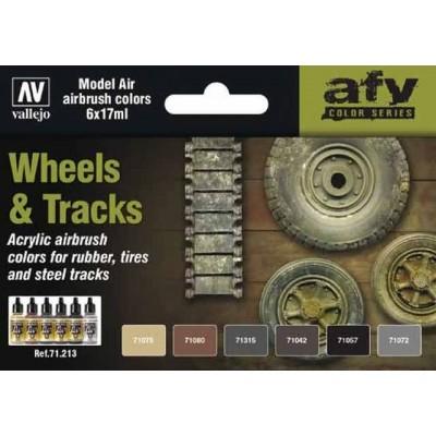 SET MODEL AIR WHEELS & TRACKS - (6 BOTES) VALLEJO 71213